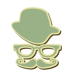 Hipster googles hat mustache vector