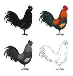 home cockanimals single icon in cartoon style vector image vector image