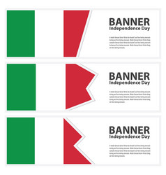 Italy flag banners collection independence day vector