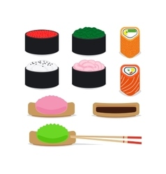 Japanese food icons set vector image vector image