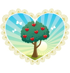 love tree vector image vector image