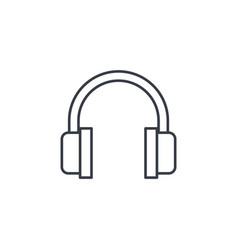 Music headphones thin line icon linear vector