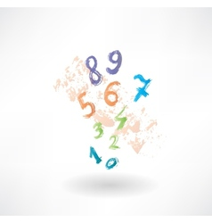 numbers grunge icon vector image vector image