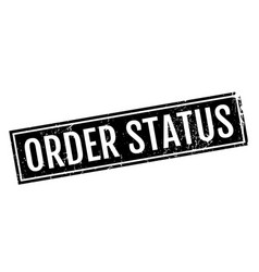 Order status rubber stamp vector