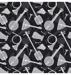 Seamless Pattern with Folk Musical Instruments vector image vector image