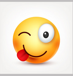 Smileysmiling happy emoticon yellow face with vector