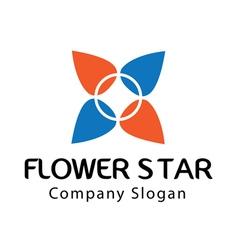 Star flower design vector