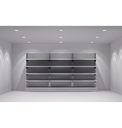 Store interior background vector