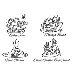 Thai foods380x400 vector image