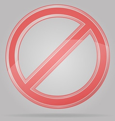 transparent prohibition sign vector image vector image