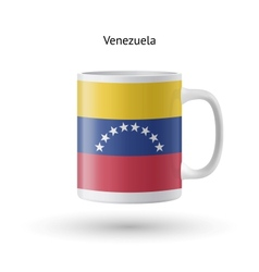 Venezuela flag souvenir mug on white background vector