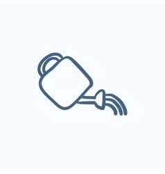 Watering can sketch icon vector