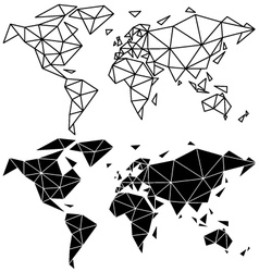 Geometric world map vector