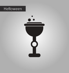 black and white style icon halloween cup potion vector image