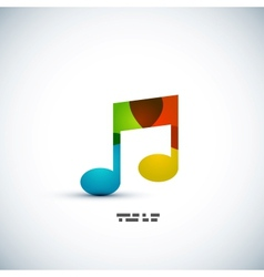 Music note colorful concept vector