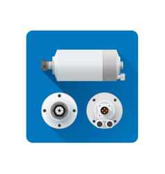Electric motor flat vector