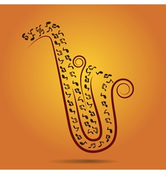 Jazz warm background vector