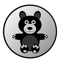 Bear button vector