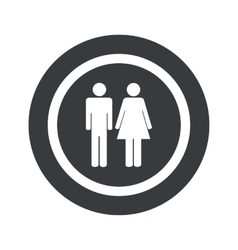 Round black man woman sign vector