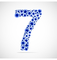 Number seven made from balls vector