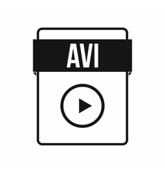 Avi file icon simple style vector