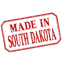 South dakota - made in red vintage isolated label vector