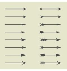 Arrow sign set vector image