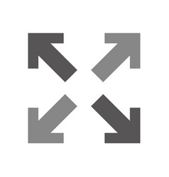 arrows alls directions icon vector image vector image