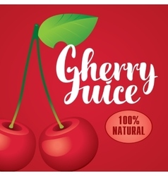 Banner with cherry juice vector