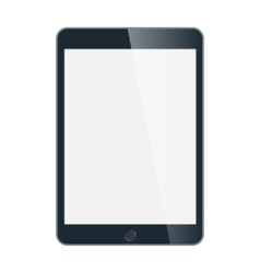 Black business tablet in iPad style isolated on vector image