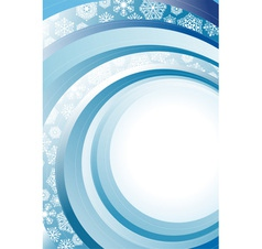 Blue Abstract Christmas background with white vector image vector image