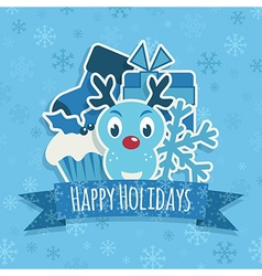 blue christmas decoration vector image vector image