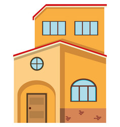Brick house with red roof vector