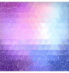 Bright abstract triangle background with white vector