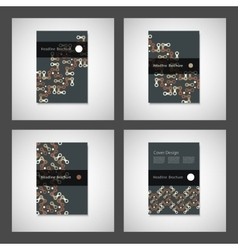 Brochures design templates pattern with vector image vector image