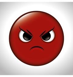 Cartoon anger red emoticon graphic vector
