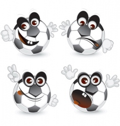 cartoon soccer vector image vector image