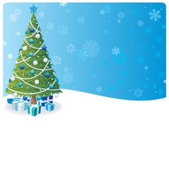 christmas tree background 2 vector image