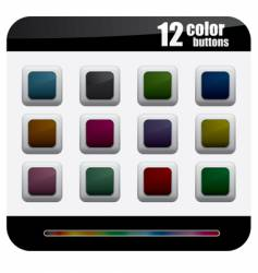 color button vector image vector image