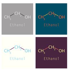 Ethanol molecules in volumetric style isolated on vector