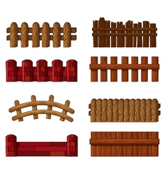 fence collection vector image