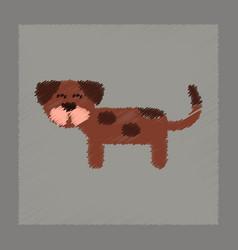 flat shading style icon pet dog vector image vector image
