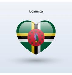 Love Dominica symbol Heart flag icon vector image vector image
