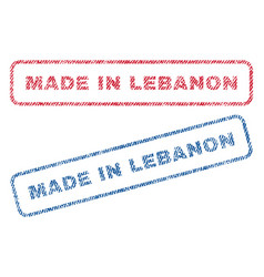 Made in lebanon textile stamps vector