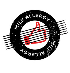 Milk allergy rubber stamp vector