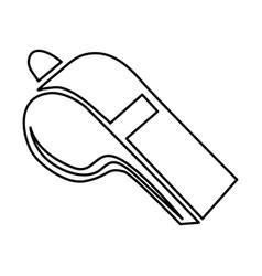 monochrome contour of whistle icon vector image