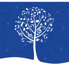 musical tree vector image vector image