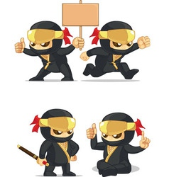 Ninja customizable mascot 6 vector