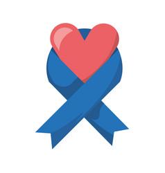 peace ribbon symbol vector image