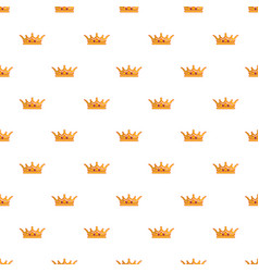 queen crown pattern seamless vector image vector image